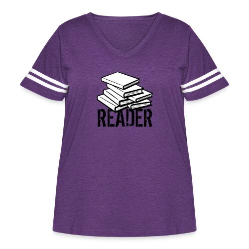 reader - Women's Curvy Vintage Sport T-Shirt