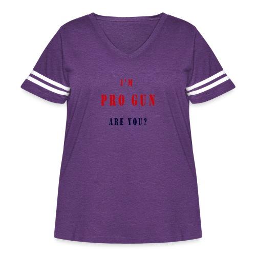 pro gun - Women's Curvy Vintage Sport T-Shirt