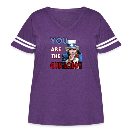 YOU Are The Gun Lobby - Women's Curvy Vintage Sport T-Shirt