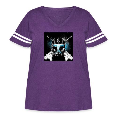 masked guns - Women's Curvy Vintage Sport T-Shirt
