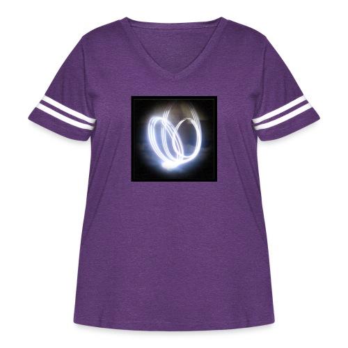 FireZoo T-Shirt - Spread the Sparkle - Women's Curvy Vintage Sports T-Shirt