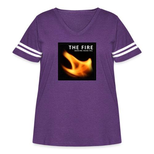 FireZoo T-shirts - It's burning Inside you - Women's Curvy Vintage Sports T-Shirt