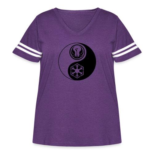 Star Wars SWTOR Yin Yang 1-Color Dark - Women's Curvy Vintage Sport T-Shirt
