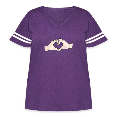 Heart Hands - Women's Curvy Vintage Sport T-Shirt