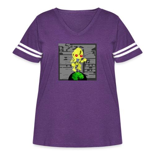Hollow Earth Mug - Women's Curvy Vintage Sport T-Shirt