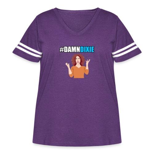 Damn Dixie 2.0 - Women's Curvy Vintage Sport T-Shirt