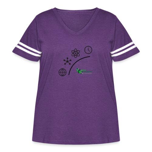 Matter Energy Space Time (Black) - Women's Curvy Vintage Sport T-Shirt