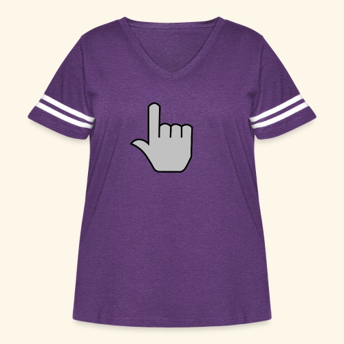 click - Women's Curvy Vintage Sport T-Shirt