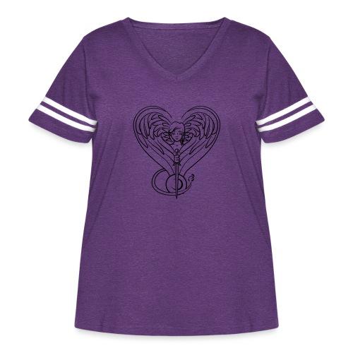 Sphinx valentine - Women's Curvy Vintage Sport T-Shirt