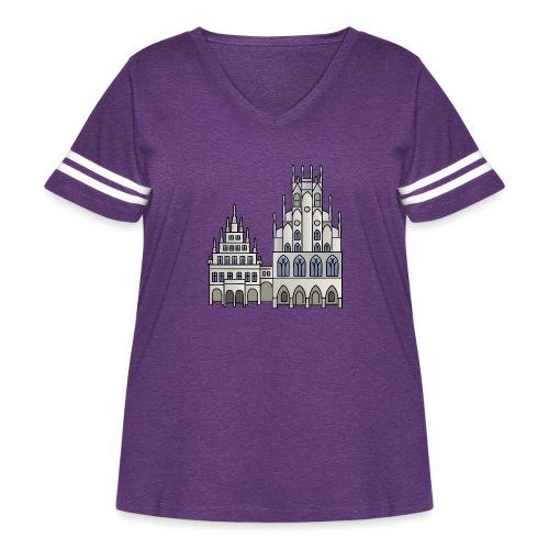 Town Hall Münster, Cityhall, Mayor - Women's Curvy Vintage Sport T-Shirt