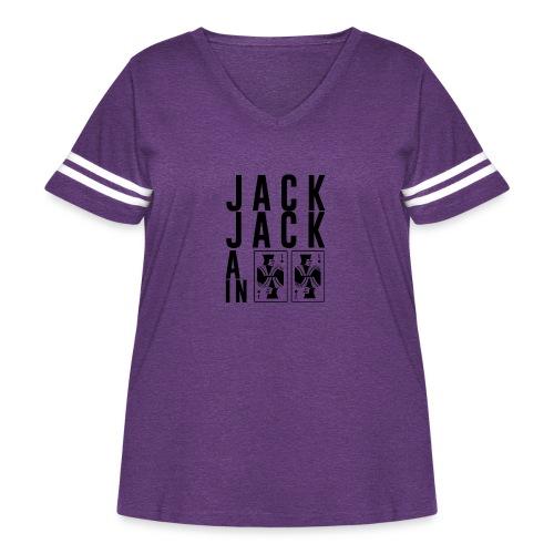 Jack Jack All In - Women's Curvy Vintage Sport T-Shirt