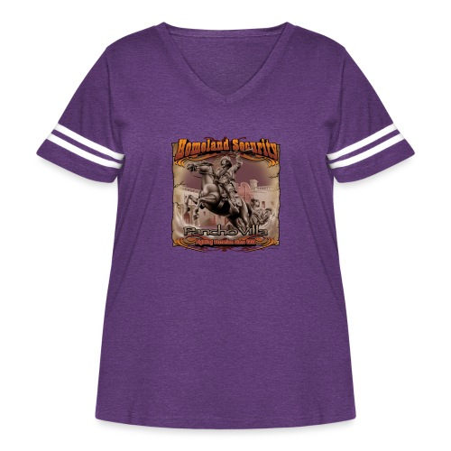 Homeland Security by RollinLow - Women's Curvy Vintage Sport T-Shirt