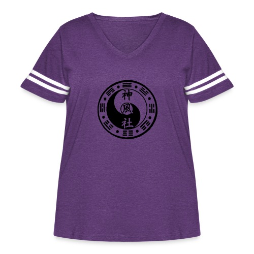SWC LOGO BLACK - Women's Curvy Vintage Sport T-Shirt