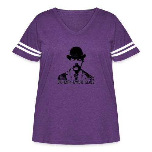 Dr-Henry-Howard-Holmes - Women's Curvy Vintage Sport T-Shirt