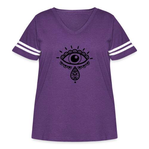 Cosmos 'Teardrop' - Women's Curvy Vintage Sport T-Shirt