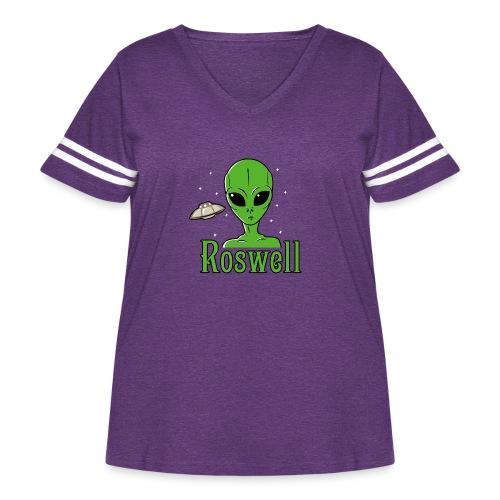 Alien Roswell - Women's Curvy Vintage Sport T-Shirt
