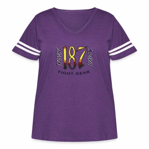Coloured Trevor Loomes 187 Fight Gear Logo - Women's Curvy Vintage Sport T-Shirt