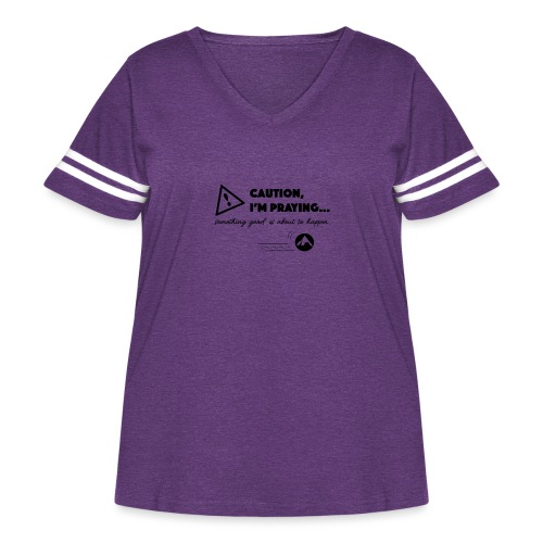 Something Good is About to Happen - Women's Curvy Vintage Sport T-Shirt