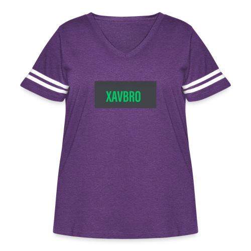 xavbro green logo - Women's Curvy Vintage Sport T-Shirt