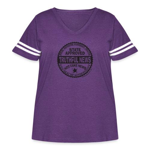 Truthful News FCC Seal - Women's Curvy Vintage Sport T-Shirt