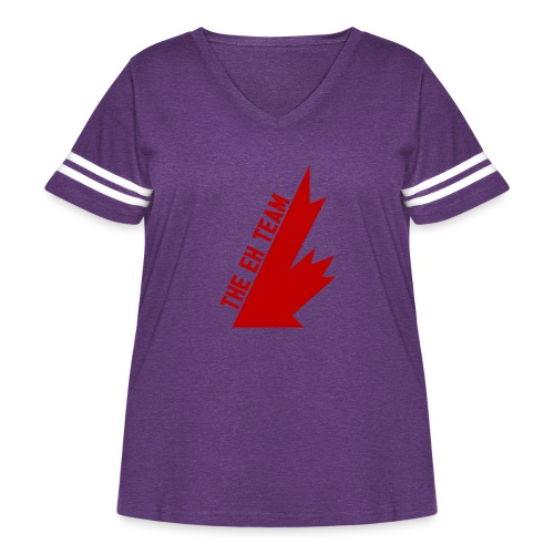 The Eh Team Red - Women's Curvy Vintage Sport T-Shirt