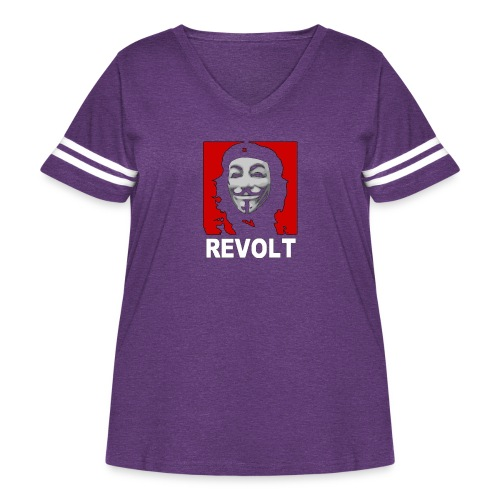 Anonymous Che Revolt Mugs & Drinkware - Women's Curvy Vintage Sport T-Shirt