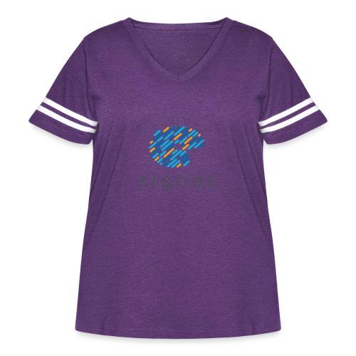 signac - Women's Curvy Vintage Sports T-Shirt