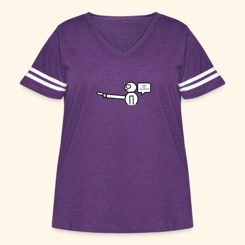 OMG its txdiamondx - Women's Curvy Vintage Sport T-Shirt