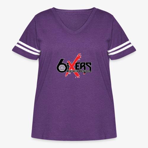 6ixersLogo - Women's Curvy Vintage Sport T-Shirt