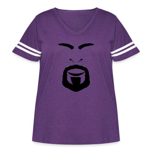 FACES_ANGRY - Women's Curvy Vintage Sport T-Shirt