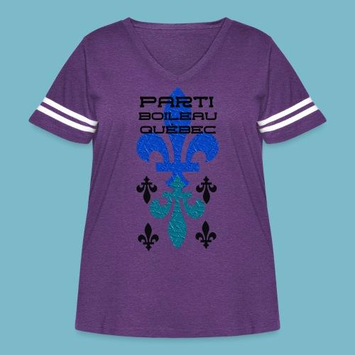 party boileau 9 - Women's Curvy Vintage Sport T-Shirt