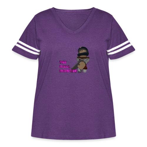 The Final Frontier - Women's Curvy Vintage Sport T-Shirt