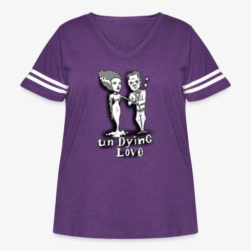 mr and mrs frank final - Women's Curvy Vintage Sport T-Shirt