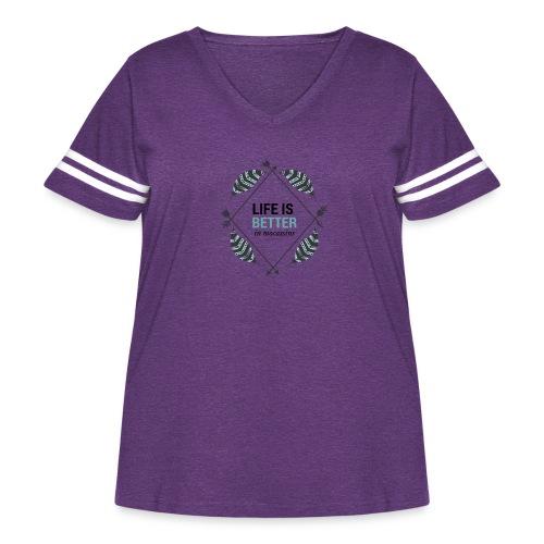 Life is Better in Mocassins - Women's Curvy Vintage Sport T-Shirt
