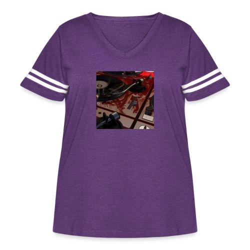 Technic Field - Women's Curvy Vintage Sport T-Shirt