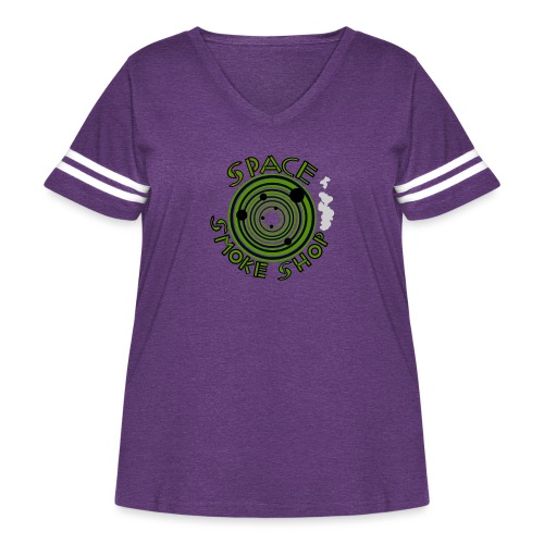 VIdeo Game Logo - Women's Curvy Vintage Sport T-Shirt