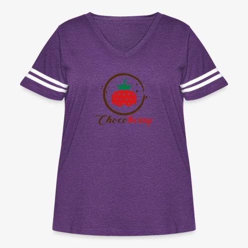 Chocoberry - Women's Curvy Vintage Sport T-Shirt
