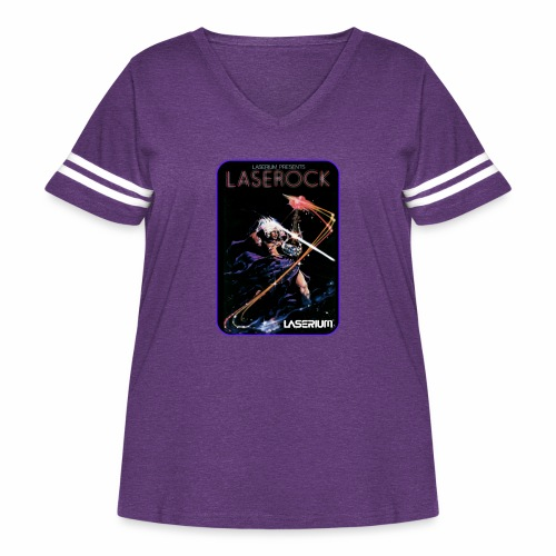 Laserium Design 002 - Women's Curvy Vintage Sport T-Shirt