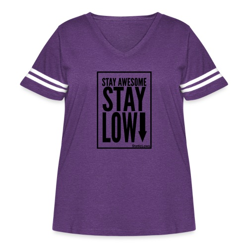 Stay Awesome - Women's Curvy Vintage Sport T-Shirt
