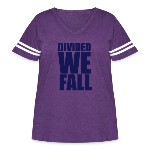DIVIDED WE FALL - Women's Curvy Vintage Sports T-Shirt