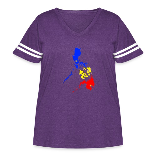 Philippines map art - Women's Curvy Vintage Sport T-Shirt