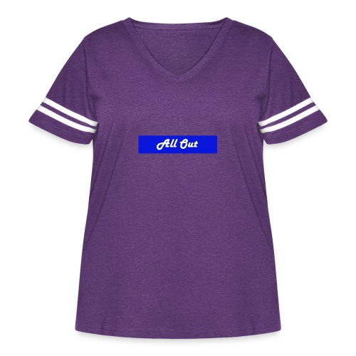 All out - Women's Curvy Vintage Sport T-Shirt