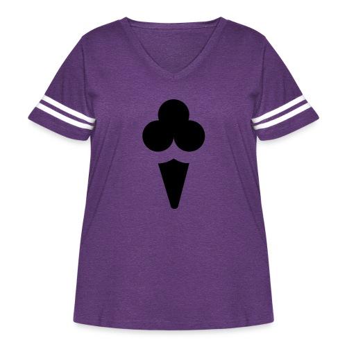 Ice cream - Women's Curvy Vintage Sport T-Shirt