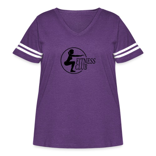 Fitness Club 01 - Women's Curvy Vintage Sport T-Shirt
