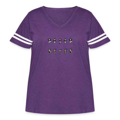 flappersshirt - Women's Curvy Vintage Sport T-Shirt