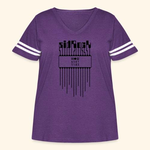 sidRock - Women's Curvy Vintage Sport T-Shirt