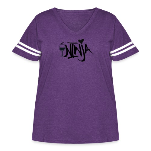 Wine Ninja - Women's Curvy Vintage Sport T-Shirt
