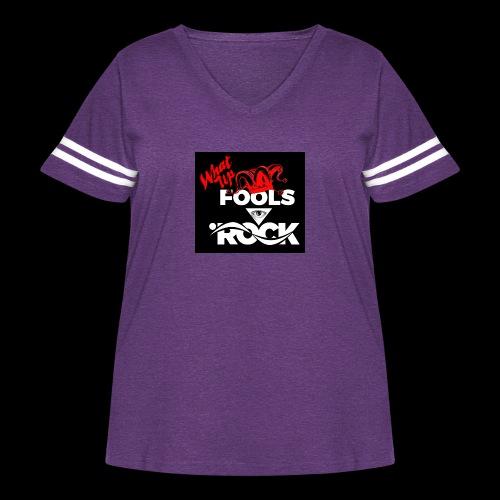 Fool design - Women's Curvy Vintage Sport T-Shirt