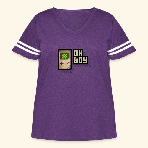 Oh Boy - Women's Curvy Vintage Sport T-Shirt