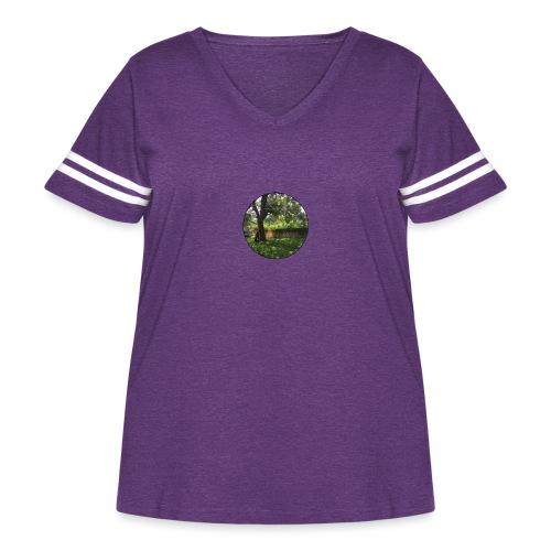 Santa Cruz Swinging - Women's Curvy Vintage Sport T-Shirt